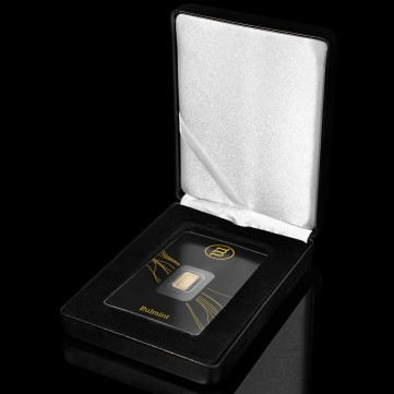 Luxury gift box for a single bold bar in blister packaging