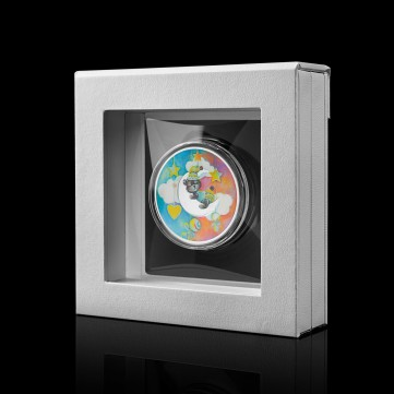 Luxury medal frame - medium, white