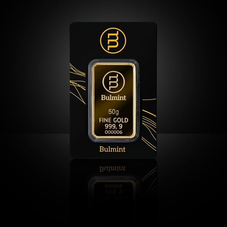 Investment Gold Bullion Bulmint, 50g