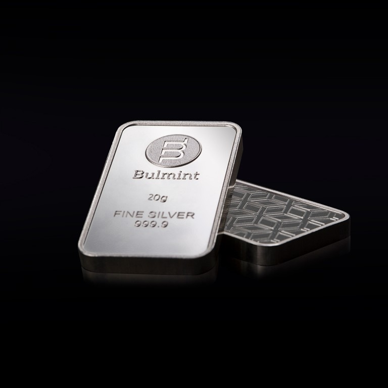 Investment Silver Bullion Bulmint, 20g