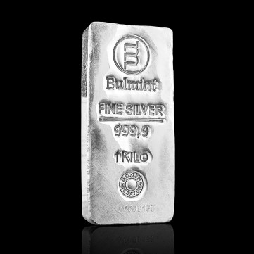 Investment Silver Bullion Bulmint, 1000g