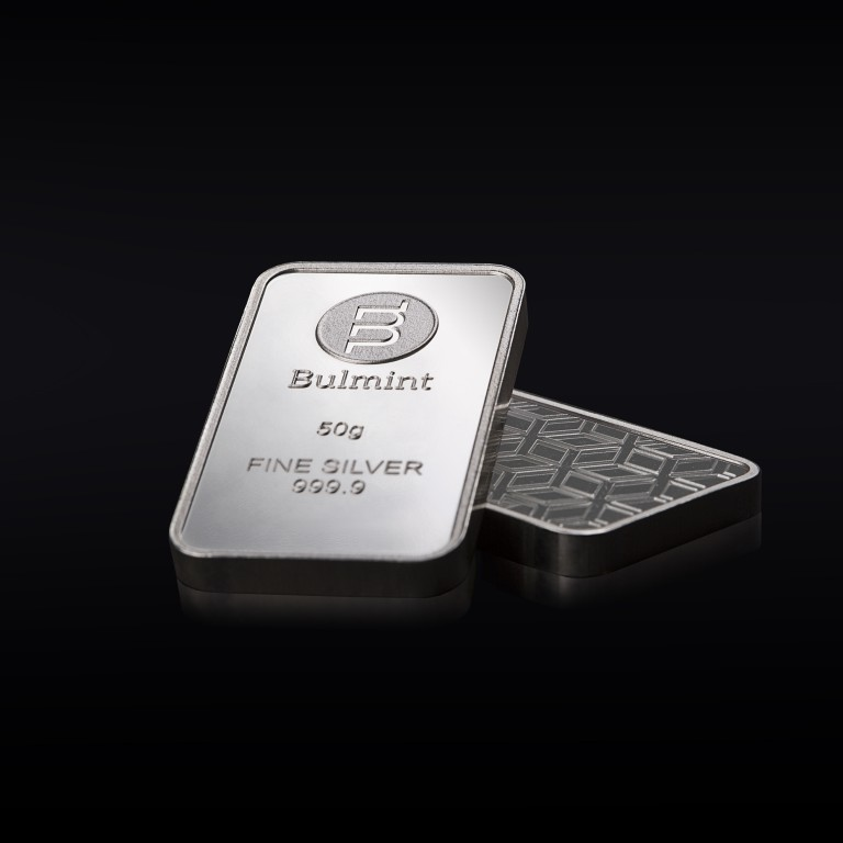 Investment Silver Bullion Bulmint, 50g